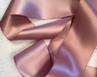 Pink Satin Ribbon/Dusty Rose Satin Ribbon/Mauve Satin Ribbon/Blush Pink Ribbon/Antique Mauve Ribbon/Dusty Pink Ribbon/Rose Gold Ribbon