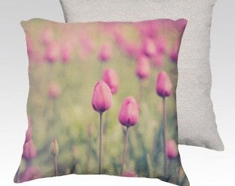 """Spring Tulips Photographic Pillow (18"""" x 18"""" and 22"""" x 22"""") As Seen on TV!"""