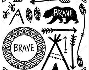 Outdoor Symbols (SVG, PDF) Hand-drawn