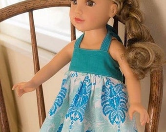 Halter dress for 18 inch doll