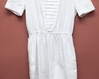 White Peated Dress