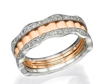 wedding ring,Rose gold Ring, Diamond Engagement, Promise Ring,Engagement Ring, Anniversary Ring, Statement Ring, Engagement Band, 14K Ring