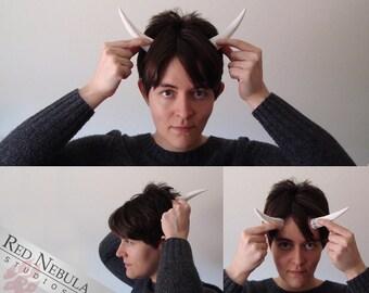 4.5 Inch Spikes, Demon Horn Pair, Wearable Monster Horns, Blank Resin Horns, Fantasy Costume Horns