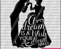 Cinderella, Quote DIY Cutting File - SVG, PNG, jpeg, pdf Files - Silhouette Cameo/Cricut