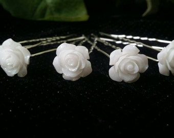 Beautiful Bridal Rose Hair Pins ( set of 12 )