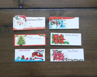 Vintage Non-Stick Christmas Gift Tags