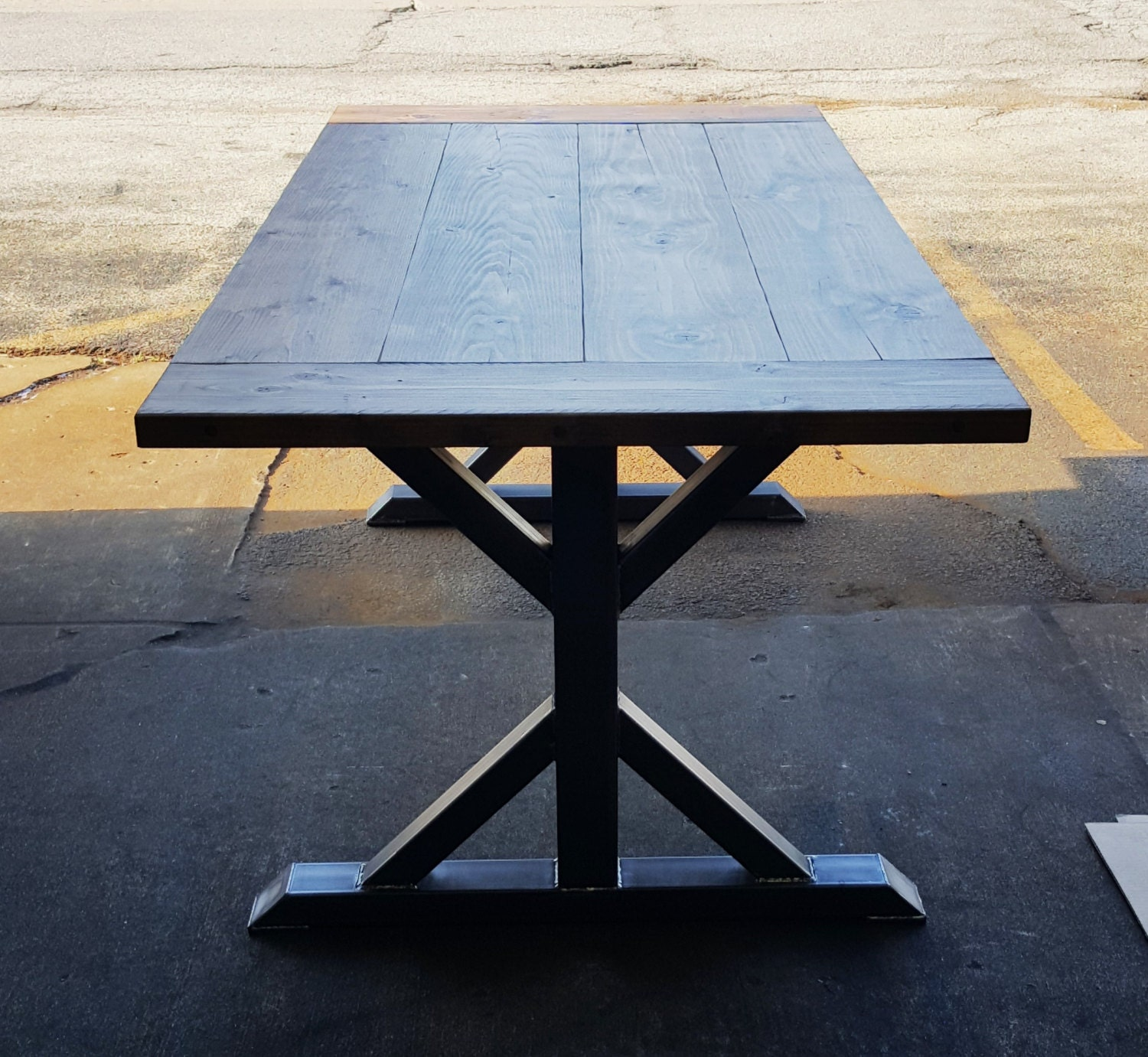 Iron Dining Table Legs Trestle Table Legs Etsy