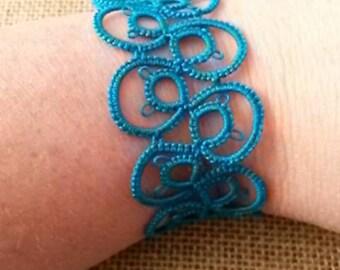 Needle Tatted Lace Bracelet