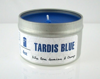 TARDIS Blue Doctor Who Candle
