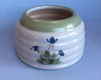"Vintage 4"" Buchan Thistleware Stoneware Serving Dish Salt Cellar Sugar Bowl Scotland"
