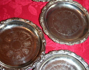Silver Plated Coasters (4) Made In Italy
