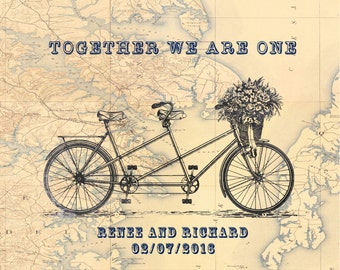 Bicycle Wedding gifts Tandem Bicycle Prints Bicycle Wedding Gift Bicycle Anniversary Gifts