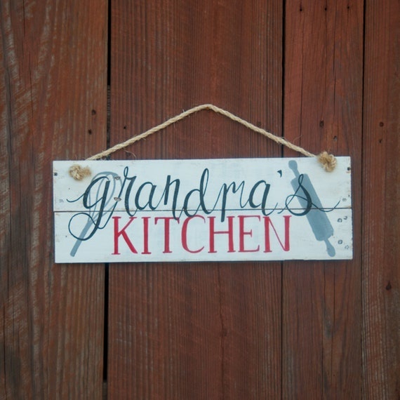 Grandma 39 S Kitchen Sign Mom 39 S Kitchen Rustic Home By