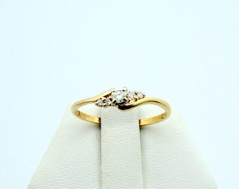 Simple 14K Yellow Gold Diamond Promise Ring #SMPLDIA-GR4
