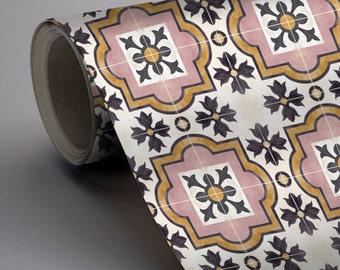 Syracuse Wallpaper in Rose  Removable Vinyl Wallpaper - Peel & Stick - No Glue, No Mess