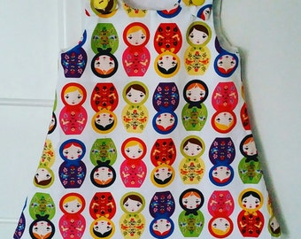 Russian doll pinafore dress