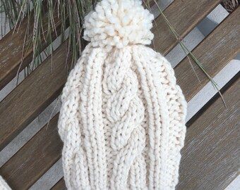 Chunky Cable Knit Hat // the MENDOTA