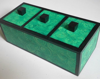 Tea caddy/jewellery/trinket/multipurpose/bathroom/vintage/storage box