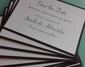 Black & White Save the Date Cards