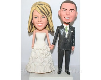 Personalized Wedding Cake Topper, Bride & Groom Custom Made Wedding Cake Topper, sweet wedding cake topper