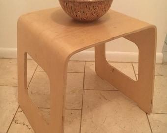 On Sale Vintage mid century Danish modern bent plywood table