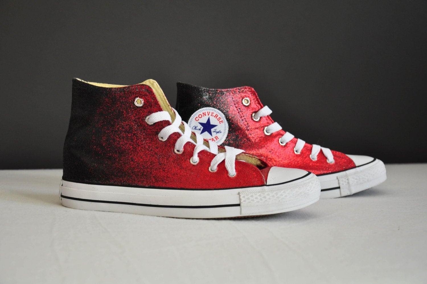 Converse shoes black and red