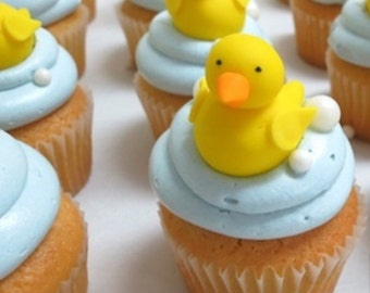Little Yellow Duckies Fondant Cupcake Toppers