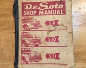 Vintage Rare Chrysler DeSoto Shop Manual, Complete, For Mechanic or Collector