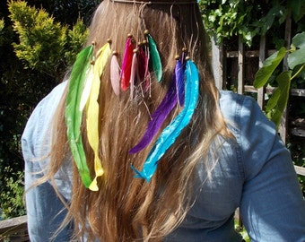 Bright Boho Feather Festival Headpiece