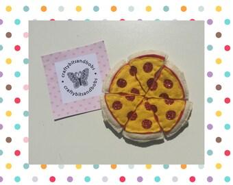 Pizza keyring, stocking filler, pizza slice, friends keyrings, pizza keepsake, party favours