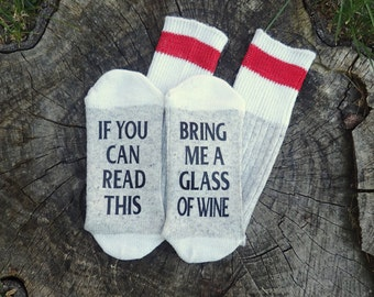 Wine socks, Bring me wine socks, Christmas gift, stocking stuffer, funny saying socks,Groom gift,bridesmaid gift, Wedding gift, Photo Props