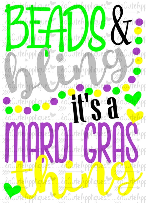 Svg Dxf Eps Cut File Beads Amp Bling Mardi Gras By