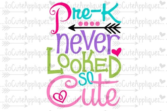 Pre K Never Looked So Cute Svg Back To School Cut File