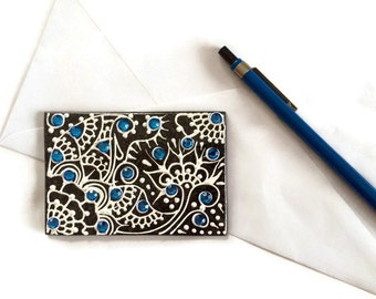 Inspirational Paper Weight, Henna Paperweight, Handpainted Paperweight, Unique Paperweight, Desk Accessory, Office Decor, Business Gift