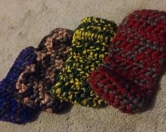 Multicolored Headbands with Button Closure