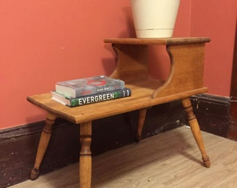 Upcycled Two-Tiered Side Table