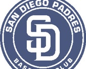 San Diego Padres -- Counted Cross Stitch Chart Patterns, 3 sizes!