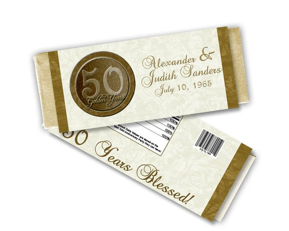 50th Anniversary Party Favors - Personalized Anniversary Candy ...