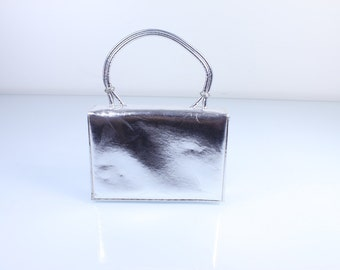 La France 1950s Silver Evening Handbag
