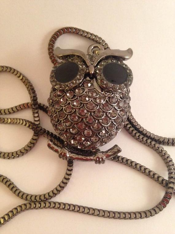 owl black ovo necklace