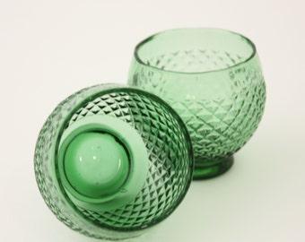 Vintage Green glasses shot size