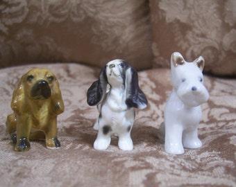 Vintage Dogs Set Of Three