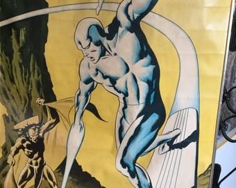 Rare COLLECTORS dream!  1982 SILVER SURFER Original Poster