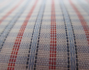 NOS yardage, vintage plaid fabric, 1 plus yard, hipster fabric,  fabric supply, vintage material, sewing notions, vintage sewing, project