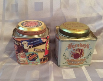 Vintage Containers Hershey Cocoa and Chocolate