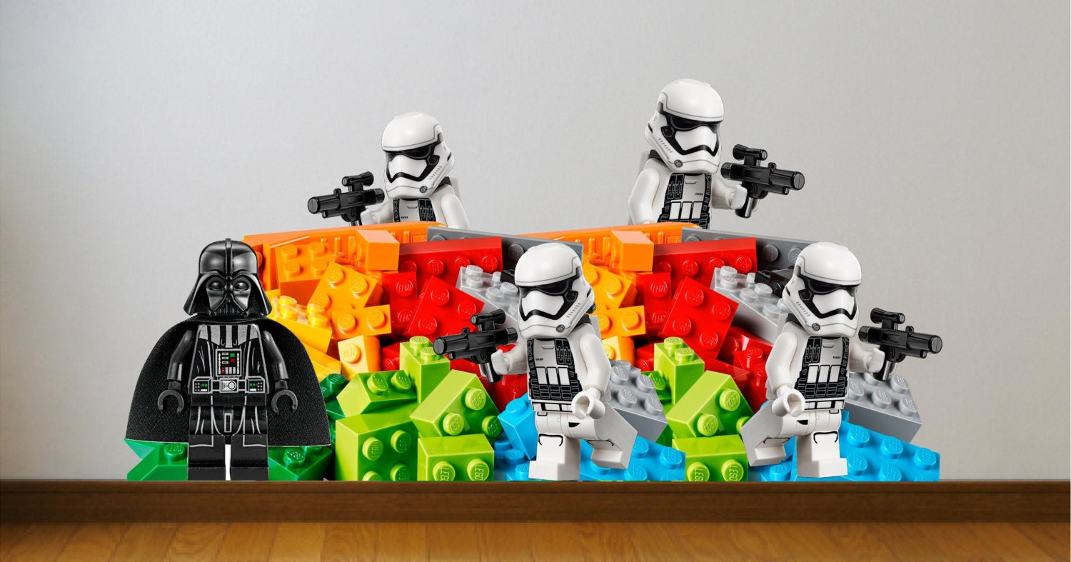 lego star wars wall decal stickers great for the kids by. Black Bedroom Furniture Sets. Home Design Ideas