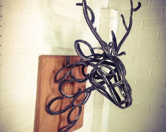 Sold, this item has now been sold Handmade wall mounted stags head