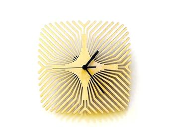 Araignée - unique moderne en bois murale horloge, découpé au laser, une œuvre d'art mural