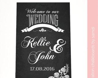 Welcome to our wedding chalkboard/ wedding sign/ chalkboard sign/ home decor/ Samdi (3)
