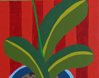 Cuppa Orchids : Original Painting